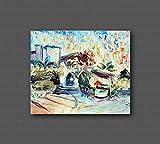 Marco decorativo contemporáneo de la lona, sala de estar, pinturas abstractas y originales como los impresionistas, hecho a mano con óleo sobre lienzo Puliafico - CASA SAMMY 50x60cm