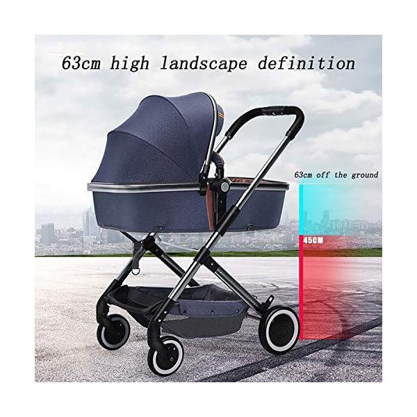 XYUJIE Baby Carriage,Ultra Light And High Landscape Can Sit Reclining Four Wheel Shock Simple Folding Trolley XYUJIE  7