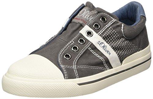 s.Oliver Jungen 54100 Slip On Sneaker, grau (grey), 36 EU Herren-slip-on-sneakers