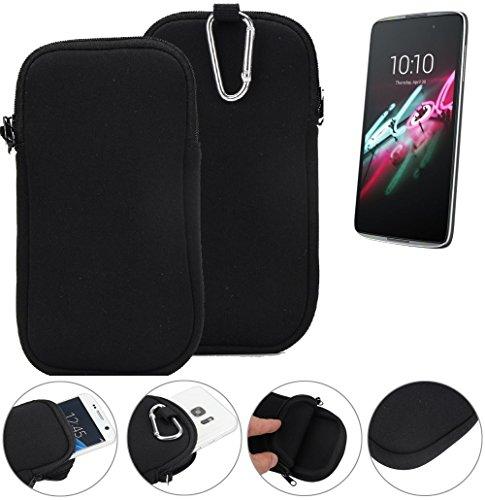 K-S-Trade Neopren Hülle für Alcatel One Touch Idol 3 5,5 Zoll Schutzhülle Neoprenhülle Sleeve Handyhülle Schutz Hülle Handy Gürtel Tasche Case Handytasche schwarz