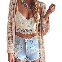 Femmes Crochet Cami Camisole en dentelle florale Vest Bralette Blouse Bra Crop Top