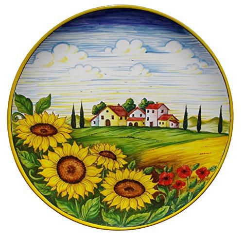 Piatto con decorazione paesaggio toscano in ceramica cm 41 for Idee artistiche di progettazione del paesaggio