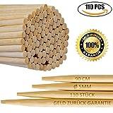 110er Pack | 90cm Extra lange Lagerfeuer Spieße | Bambus Marshmallow-Spieße | Grillspieße für Hot Dogs, Kebab, Wurst | Umweltfreundlich | 100% biologisch abbaubar