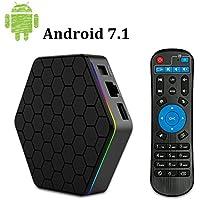YAGALA T95Z Plus Android 7.1 TV BOX with 2GB RAM 16GB ROM Octa Core smart Set Top box supports 2.4G/5G 4K Dual Wifi 1000M LAN Bluetooth 4.0