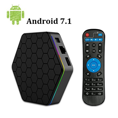 YAGALA T95Z Plus Android 7.1 TV BOX with 2GB RAM/16GB ROM Octa Core smart Set Top box supports 2.4G/5G 4K Dual Wifi 1000M LAN Bluetooth 4.0 Test