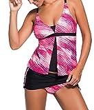 Choose Women's Push Up Tankini mit Panty zwei Stück Badeanzug Set