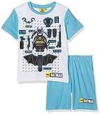 FABTASTICS Jungen Zweiteiliger Schlafanzug LEGO BATMAN, Mehrfarbig (Blau Weiss), 104