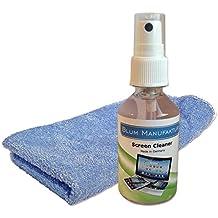 Blum - Limpiador de pantalla 50ml + un paño de microfibra. Óptimo para la limpieza del Apple iPhone | iPad | iPad Mini | iPad Air | iPad Pro | iMac | MacBook | MacBook Air | MacBook Pro | Watch - Ecológico y biodegradable (100% fabricado en Alemania).