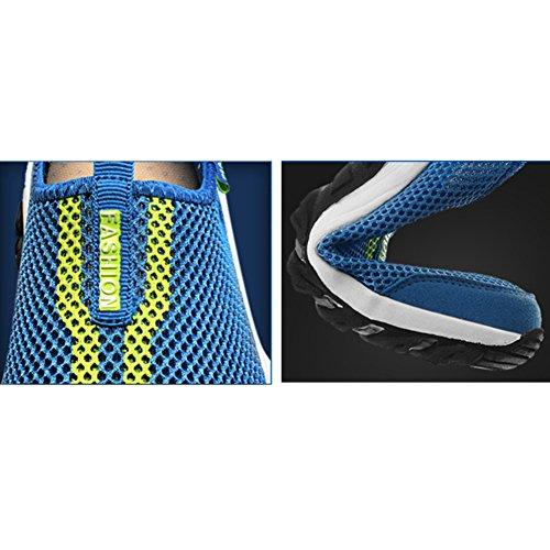 SAGUARO® Mesh Atmungsaktives Sneaker Breathable Aquaschuhe Strandschuhe Slip on Sommer Laufschuhe für Damen Herren Unisex Lila