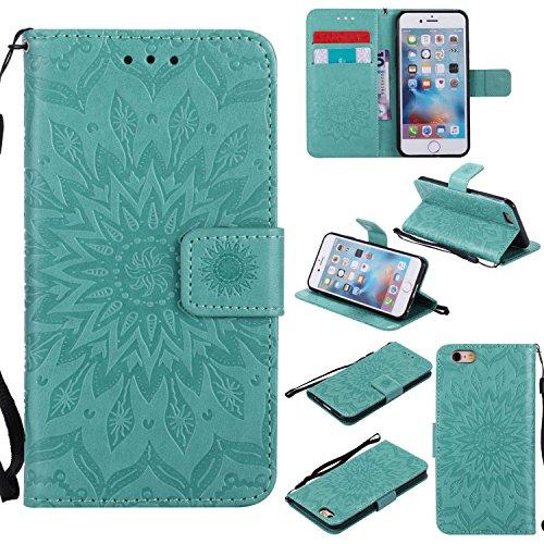 Bravoday Cover iPhone 6 / iPhone 6s Plus, Arte Custodia Portafoglio iPhone 6 / iPhone 6s Plus, Flip Cover a Libro con [Chiusura Magnetica] per iPhone ...