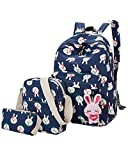 Best Books For 6th Graders - ABage Girls' Canvas Backpack Set 3 Pieces Patterned Review
