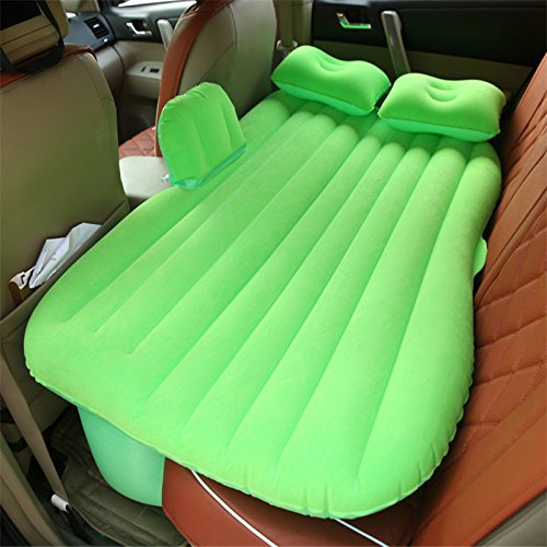 HAOXIAOZI Auto Camping Rear Seat Aufblasbares Bett Outdoor-reisen Beflockung Luftbett,Green