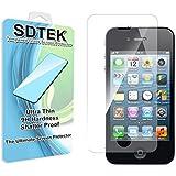 SDTEK iPhone 4 / 4s Panzerglas Glasfolie Schutzglas Hartglas Tempered Glass Screen Protector Schutzfolie Displayschutzglas