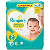 Pampers Premium Protection Windeln New Baby, Gr. 2 Mini (4-8 kg), Jumbopack, 1er Pack (1 x 68 Stück)