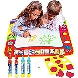 xhforever 80 cm x 60 cm niños doodle del aqua de dibujo juguetes 1 pintura Agua Dibujo Mat & 4 del Dibujo del Agua de Plumas Niño Jugar estera
