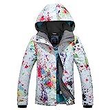 POWERSPACE Women's Ski Snowboard Jacket Waterproof Warm Winter Lined Jacket colorful Printed 9896