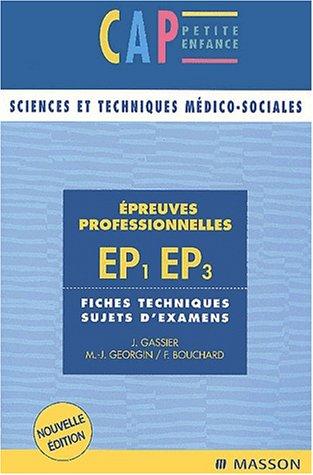 Épreuves professionnelles EP1/EP3 CAP - Sujets d'examens