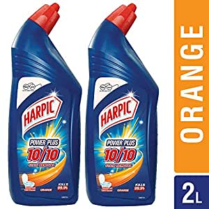 Harpic Powerplus Toilet Cleaner - 1000 ml (Pack of 2, Orange)