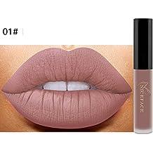 pintalabios lustre,Oyedens Nuevo labio lingerie matte líquido lápiz labial impermeable brillo labial maquillaje 12 tonos (A)
