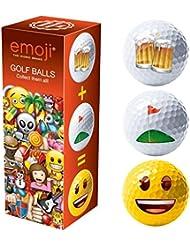 Coussin Unisexe nouveauté Fun Balles de golf (Lot de 3), rouge