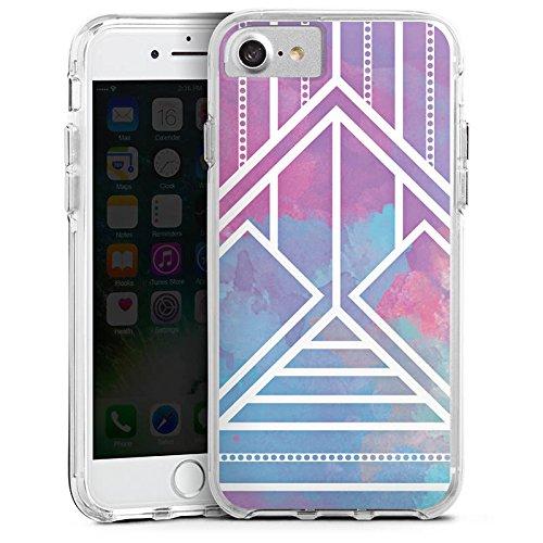 Apple iPhone 6 Bumper Hülle Bumper Case Glitzer Hülle Ethno Pastell Galaxy Modern Bumper Case transparent