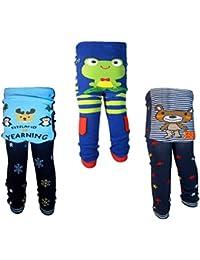 Backbuy 3 pantalones 0-24 meses para bebés niños leggings pantalones de punto I3I4V4