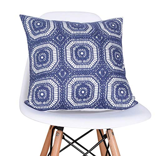 Vektenxi Mode Persönlichkeit Plain Sofa Kissenbezug Stickerei Kissenbezüge -