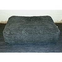 Zippy Bean Bag Pet Dog Bed - Extra Large - Grey Jumbo Cord Fabric