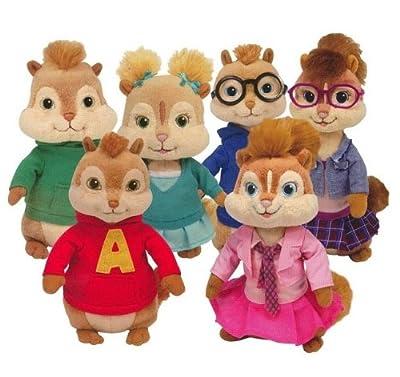 Ty Beanie Babies Alvin y las ardillas - Peluches (6 unidades) de Ty