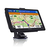 SAT NAV with 7 inch Pre-Installed 2020 Europe UK Ireland Maps(FREE Lifetime Map Updates), OHREX GPS Navigation for Car Truck Motorhome Includes Postcodes, Speed Camera Alerts & POI Lane Assistance