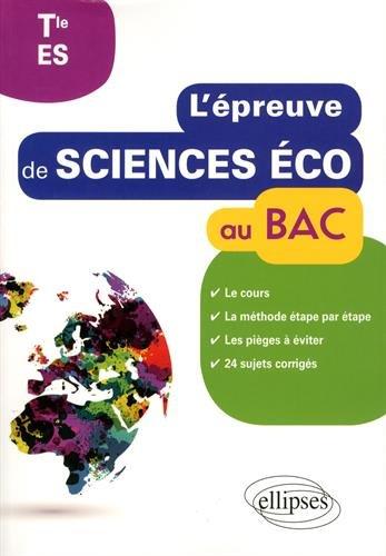 L'Épreuve de Sciences Éco au BAC Tle ES par Hervé Lemoine