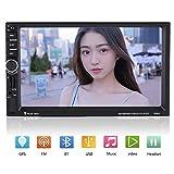 Qiilu 7inch 2 Din HD Bluetooth Touchscreen Auto Stereo FM Radio MP5 Spieler