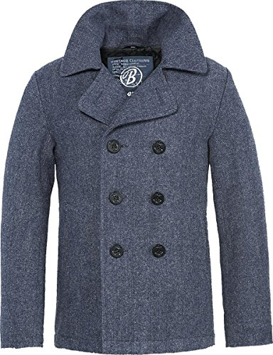 Brandit Pea Coat Jacke M Blau (Pea-jacke)
