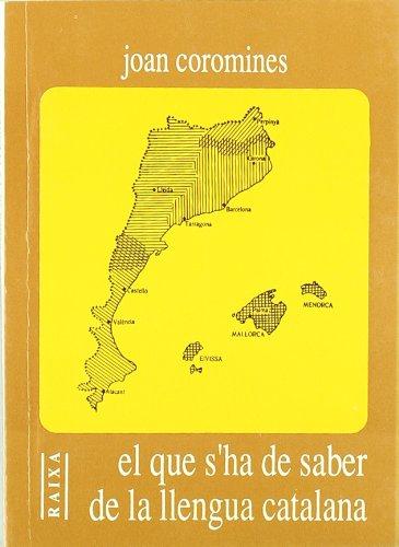 El que s'ha de saber de la llengua catalana