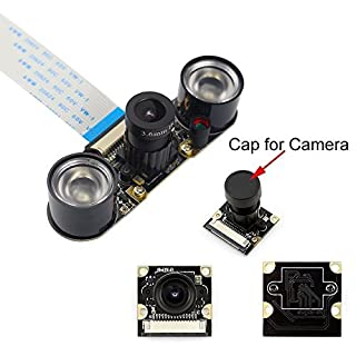 Longruner Raspberry PI Camera Module 5MP 1080p OV5647 Sensor HD Video Webcam Supports Night Vision For Raspberry Pi 3 model B B+ A+ RPi 2 1 Camera LSC15