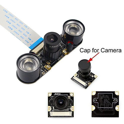 Longruner Camera Module for Raspberry Pi 3 Model B B+ A+ 2 1 5MP 1080p OV5647 Sensor HD Video Webcam Night Vision Camera