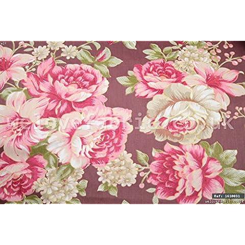 Rose Rosa Vintage 100% cotone tessuto al