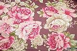 Pink Roses Vintage 100% Baumwolle Stoff Pro Meter 1,6m