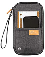 Trajectory Fabric RFID Protected Travel Passport Holder and