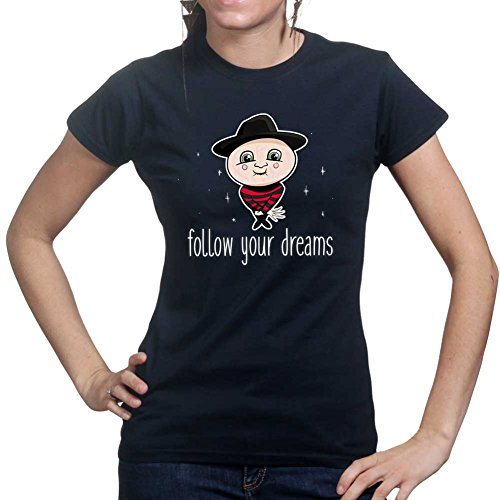 Customised_Perfection Follow Your Dreams Freddy Ladies T Shirt (Tee, Top)