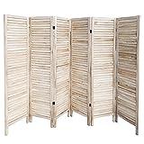 Yahee 6 tlg Paravent Raumteiler Trennwand Spanische Wand Sichtschutz Umkleide (Natur)