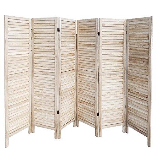Wand Sichtschutz (Yahee 6 tlg Paravent Raumteiler Trennwand Spanische Wand Sichtschutz Umkleide (Natur))