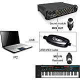 Synthesizer Music Studio Keyboard Interface USB To MIDI Cable With 16 Channels (USB To MIDI Cable Converter)