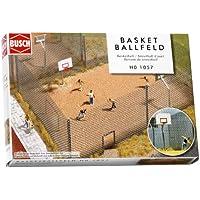 Busch 1057 - Campo de baloncesto de calle en miniatura (escala 1:87) [importado de Alemania]