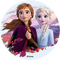 Dekora - Frozen Ii-Elsa Y Anna Decoracion Tartas de Cumpleaños, 20 cm, Multicolor, 114383