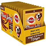 Pedigree Meat Jerky Stix Adult  Dog Treat, Grilled Liver, 12 Packs (12 x 60g)