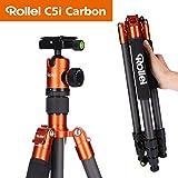 Rollei C5I I Orange I leichtes Foto-Stativ aus Carbon I Reise-Stativ mit...