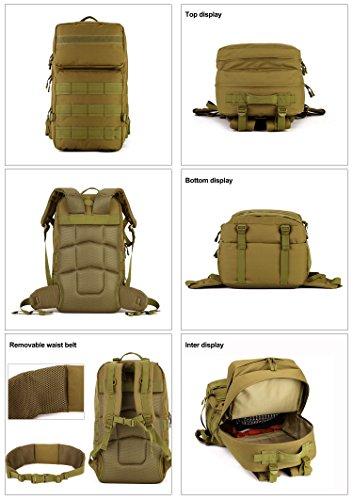 4c6464b0bda4f ... Taktischer Trekkingrucksacke Wanderrucksäcke Backpack Reisetaschen  Multifunktionale Kampfrucksack für Outdoor Sports Sportrucksack  Schulrucksäcke ...