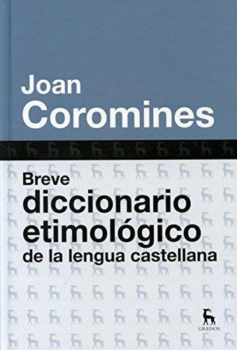 Breve diccionario etimologico (DICCIONARIOS)