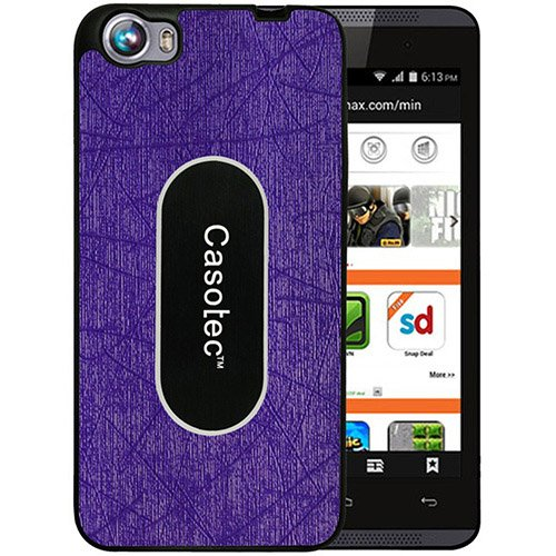 Casotec Metal Back TPU Back Case Cover for Micromax Canvas Fire 4 A107 - Purple  available at amazon for Rs.125